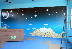 Play School Wall Painting Designs Services