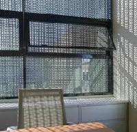 perforated window screens.
