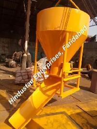 Side Discharge Arrangement Cone Type Concrete Bucket