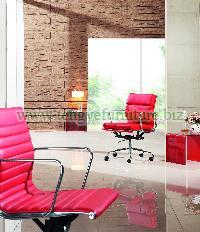 Red Emes Leather Office Chair