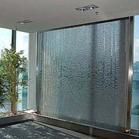 Indoor Glass Wall  Water Fountain