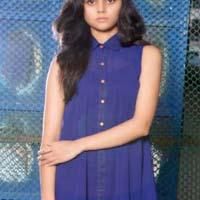 Ladies Blue Designer One Piece Dress