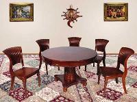 Carved Wooden Dining Set