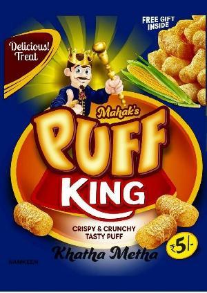 Rice Corn Puff Khatta Metha snack