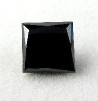 1.00 Carat Princess Cut Black Diamond