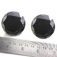 4.00 Carat Round Cut Black Diamond