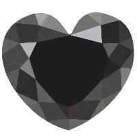 Super Quality 25.00 Carat Heart Cut Black Diamond