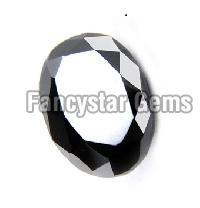 1.00 Carat Oval Cut Black Diamond