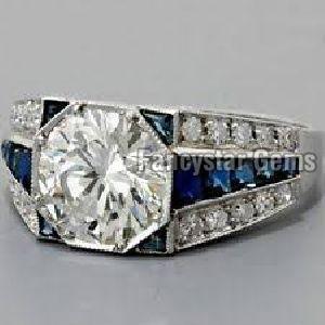 1.30CT Moissanite 925 Silver Engagement Wedding Rings