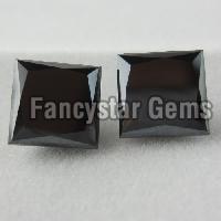 2.00 Carat Princess Cut Black Diamond