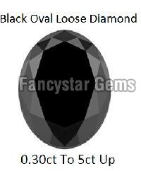 20.00 Carat Oval Cut Black Diamond Lot For Sale