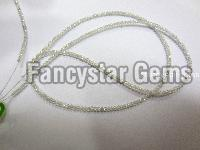 Gray Color loose faceted diamond beads necklace