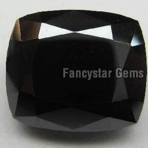 Natural Black Color Cushion Cut Loose Diamond