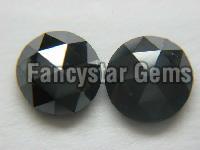 NATURAL BLACK ROSE CUT DIAMOND
