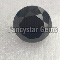 Natural Loose Black Diamond Round