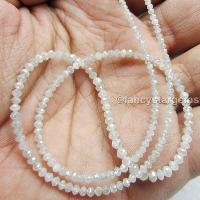 White Color loose faceted diamond beads necklace