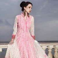 With Pink Anarkali Salwar Suits