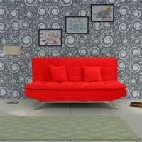 Red Flamboyant Sofa Cum Bed