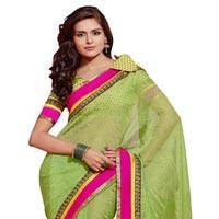 Manjula Green Exclusive Designer Suffy Net Jequared Saree