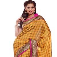 Manjula Mustard Exclusive Designer Art Silk Saree
