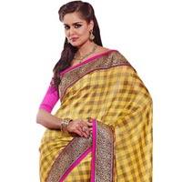 Manjula Yellow Exclusive Designer Art Silk Saree