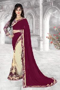 Karma Fresh Looks Half & Half Weight Less Designer Saree