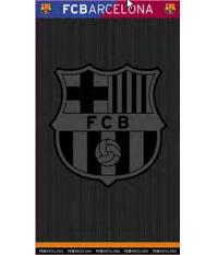 Fcb Black  Egyptian Jacquard Towel