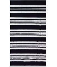 Striped Black White Egyptian Jacquard Towel