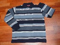 Men's Striped Polo Long Sleeve