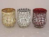 Mosaic Glass Votive