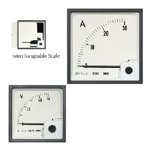 Dc Moving Coil Panel Ammeter