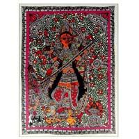 Maa Durga Madhubani Mithila Style Painting : Madhubani Paintings