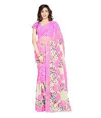 Casual Wear Pink  Printed Chiffon Saree_aako52sr1042aksml
