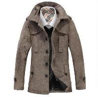 leather mens duffle coat