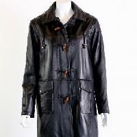 leather womens duffle coat