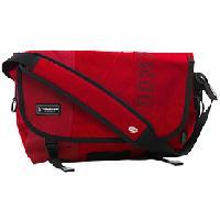 Upcycled Crimson Messenger Bag