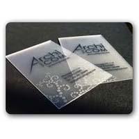 Transparent Plastic Cards