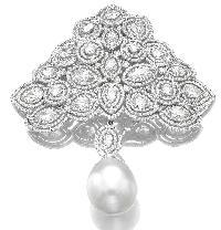 White Gold Diamond Brooches