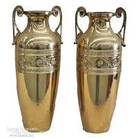 brass embossed vases