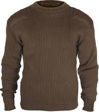 Round Neck Acrylic Wool Sweater