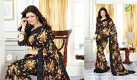 Shree Ma Fashion Black Coloured Fancy Georgette Saree