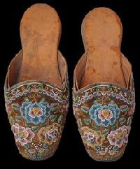 Embroidered & Beaded Slippers