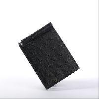 Ostrich Leather Black