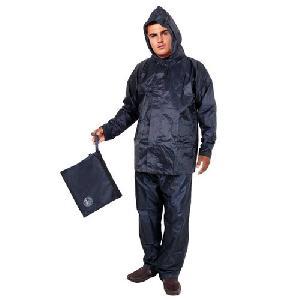 Duckback Solid Navy Blue Mens Rain Suit