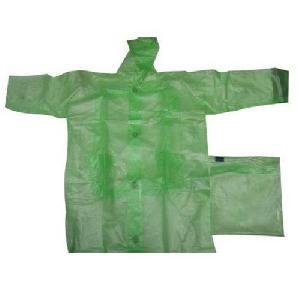 Green Colored Mens Raincoat