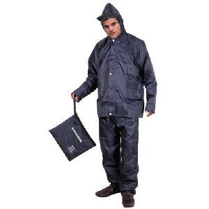 Navy Blue Colored Reversible Rain Suit