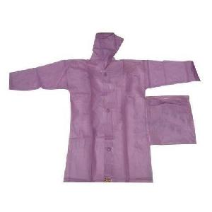 Purple Colored Mens Raincoat