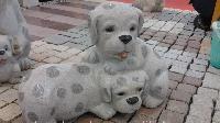 Granite Dog Sculpture