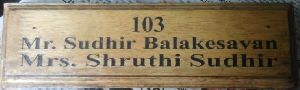Wooden Name Plate