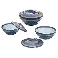 Micro Bowl With Lid ( 3 Pcs Set)